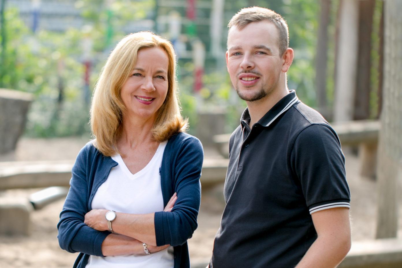 Portrait von Gaby Vandevelde. Sie ist Leiterin des evangelischen Kindergartens Brügge in Lüdenscheid.