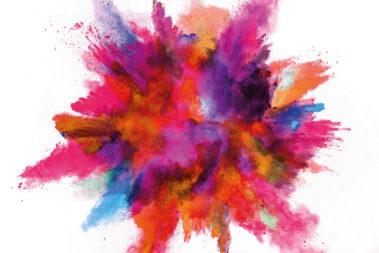 Illustration eines bunten Farbkleckses.