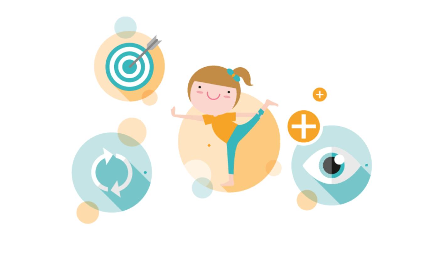 """Illustration """"Prävention"""" zur neuen DGUV Branchenregel Kindertageseinrichtung. Diese bündelt Themen rund um Sicherheit und Gesundheit in der Kita."""
