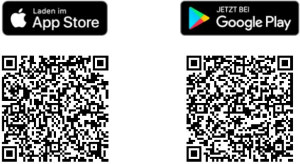 Bildschirmfoto der Links zu den Apps zu DGUV KinderKinder