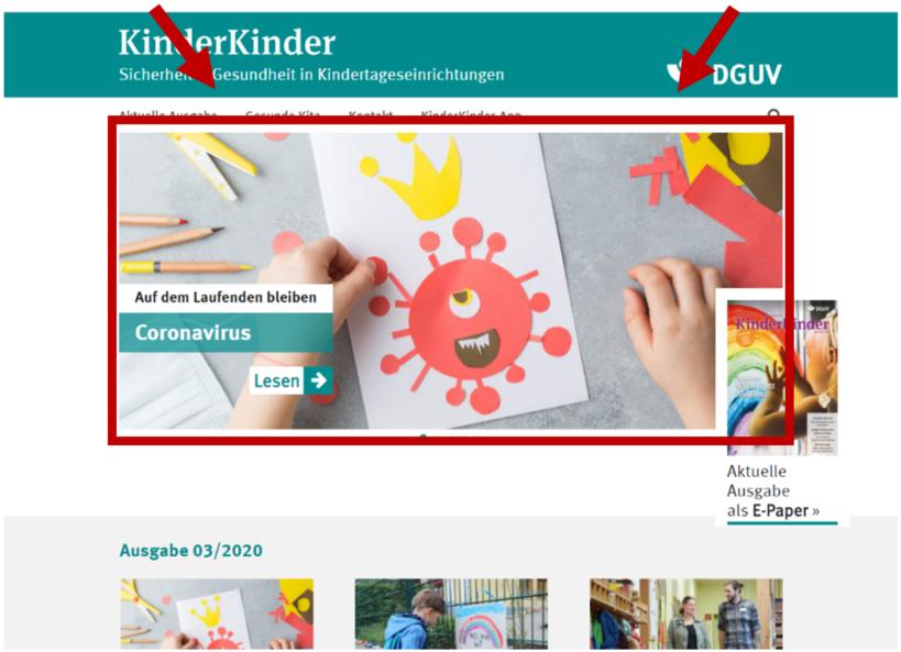 Bildschrimfoto Startseite KinderKinder